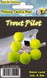 Fishing Tackle Max Trout Pilots Rond 12 mm Geel_