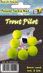 Fishing Tackle Max Trout Pilots Rond 8 mm Geel