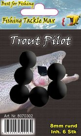 Fishing Tackle Max Trout Pilots Rond 8 mm Zwart
