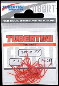 Tubertini Rode Wasmot Haken Serie 22 maat 8