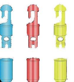 Stonfo Elastiek Conectors 2,5 mm Geel
