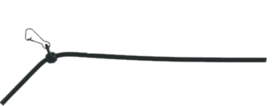 Hoekafhouder zwart 10 cm