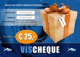 VisCheques - Hengelsport cadeaubon t.w.v. € 25,00