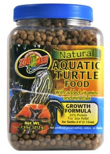 Zoo Med Natural Aquatic Turtle Food Growth Formula 212 Gram