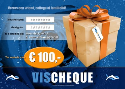 VisCheques - Hengelsport cadeaubon t.w.v. € 100,00